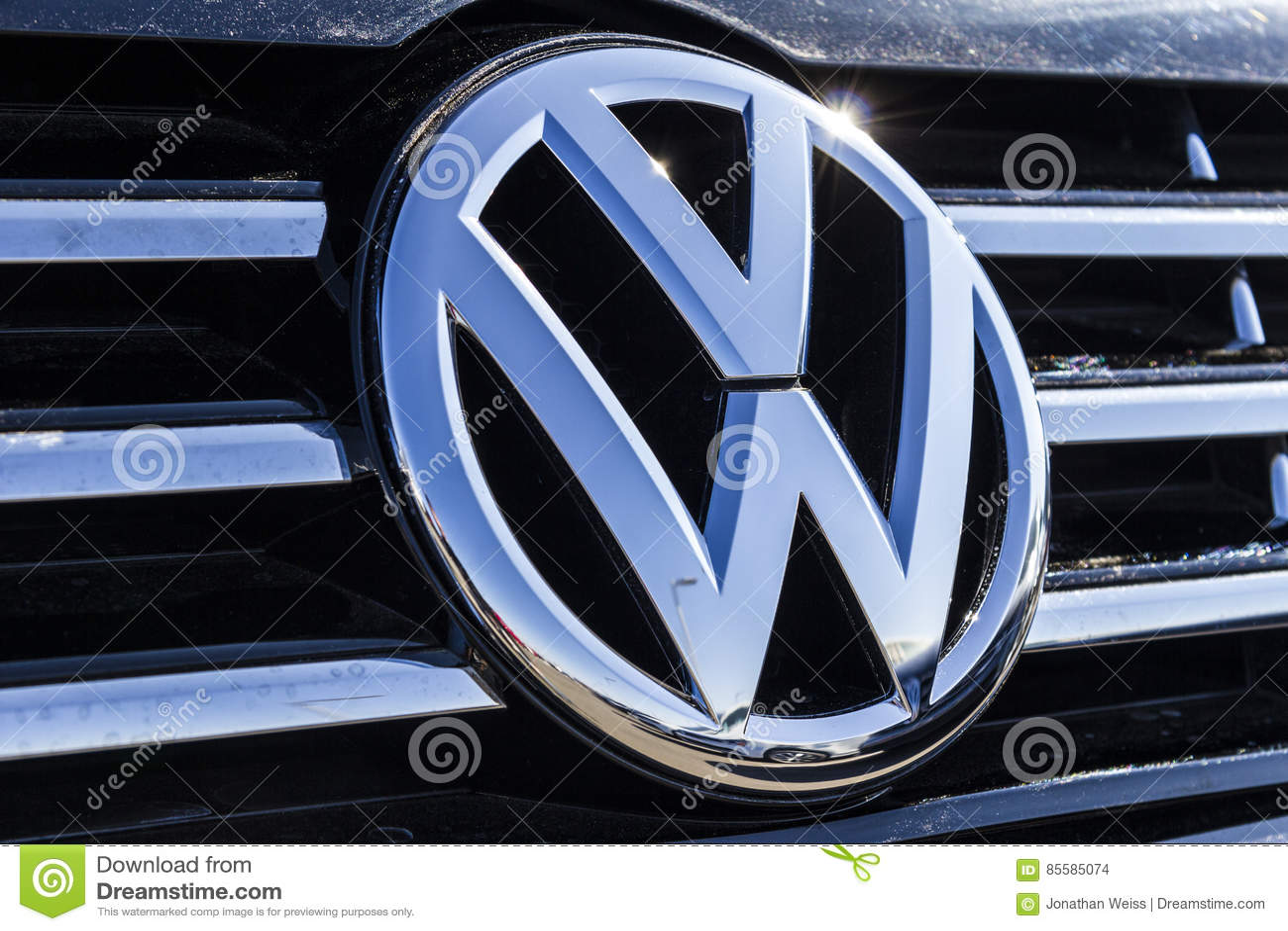 Indianapolis Circa Februari 2017 Volkswagen Auto S En Suv Embleem