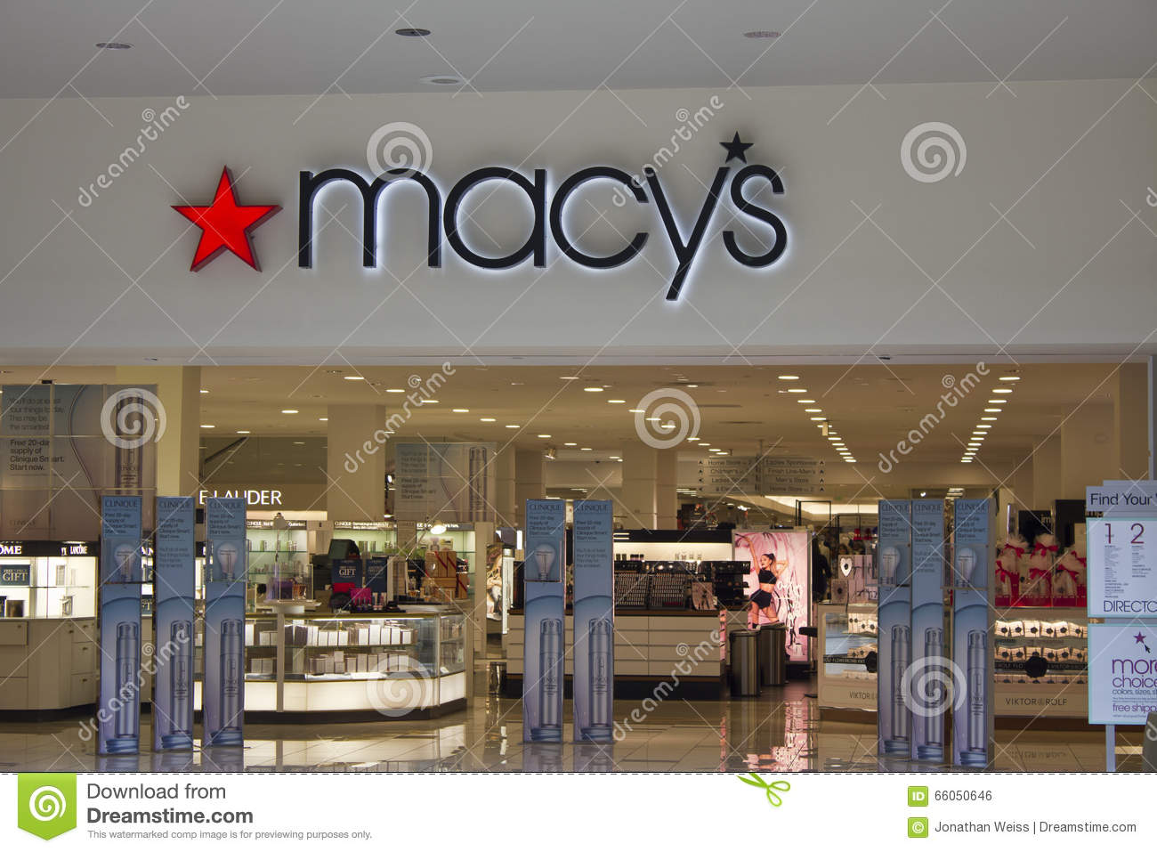Indianapolis - Circa February 2016: Macy s Department Store.