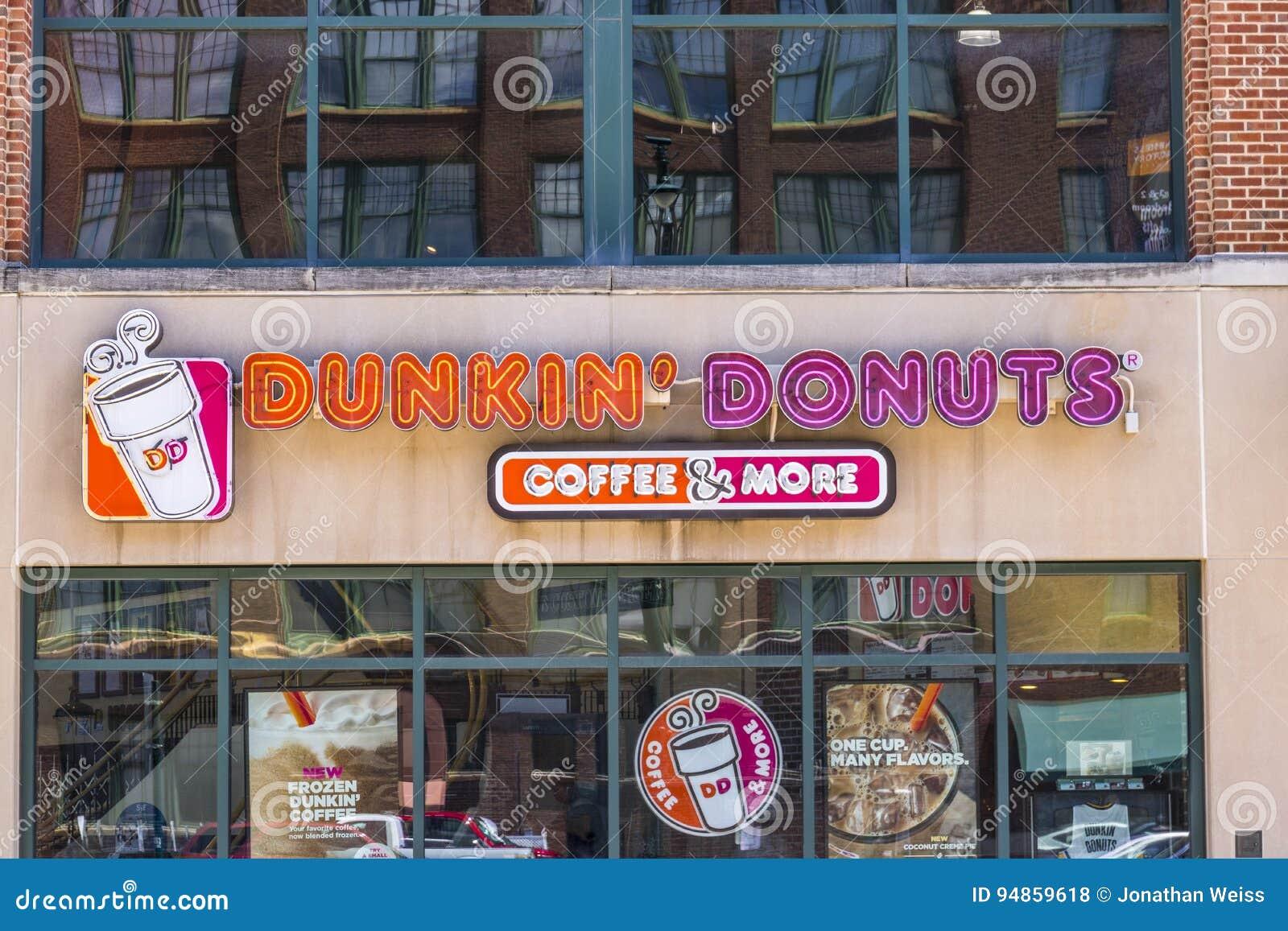 Indianapolis Circa June  Dunkin Donuts Retail Location VII - Dunkin donuts location map usa