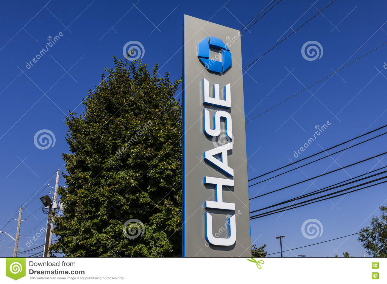 Indianapolis - Circa September 2016: Chase Bank Sign  Chase Is The