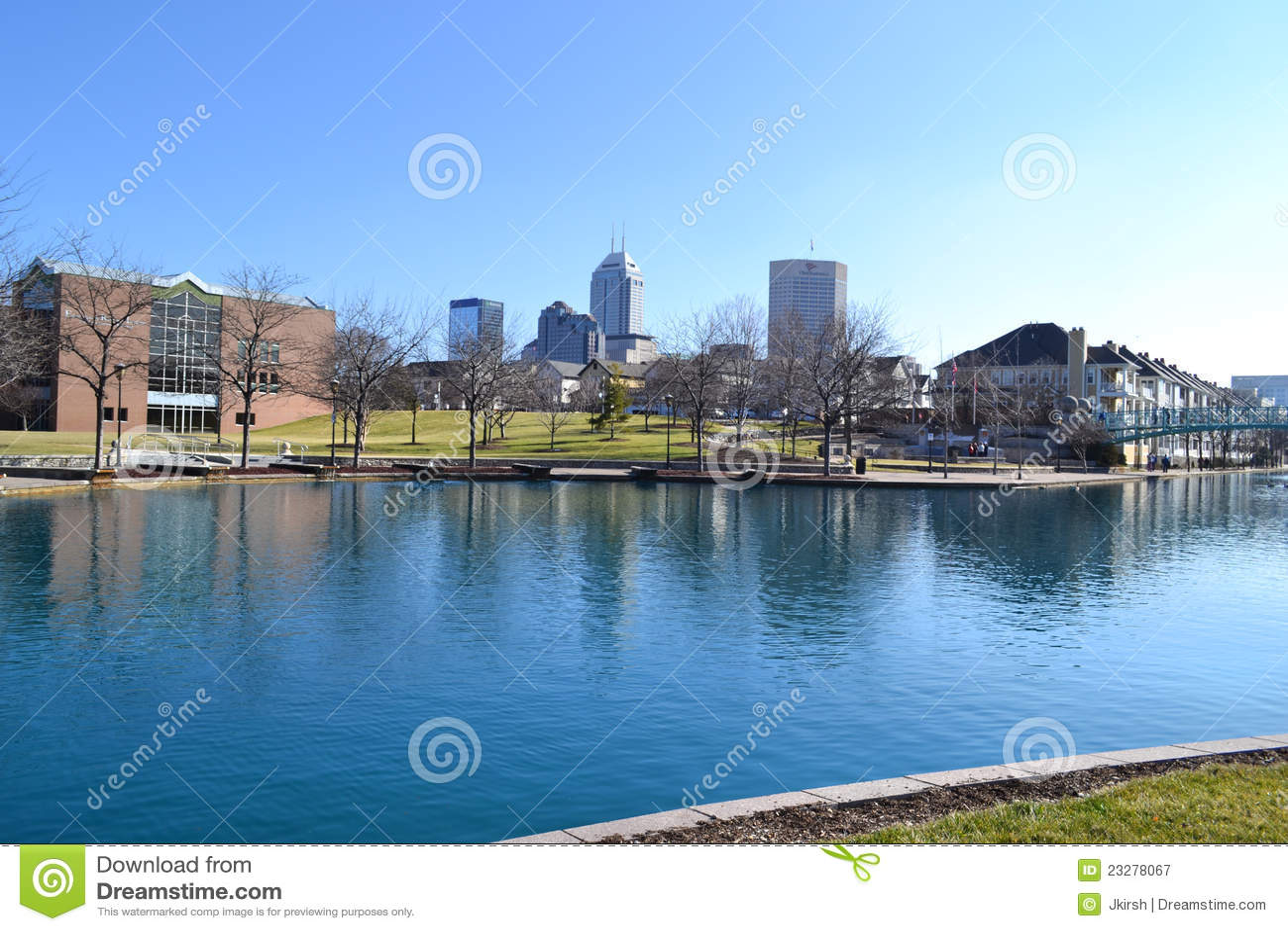 Indianapolis-Skyline auf Superbowl Sonntag 2012