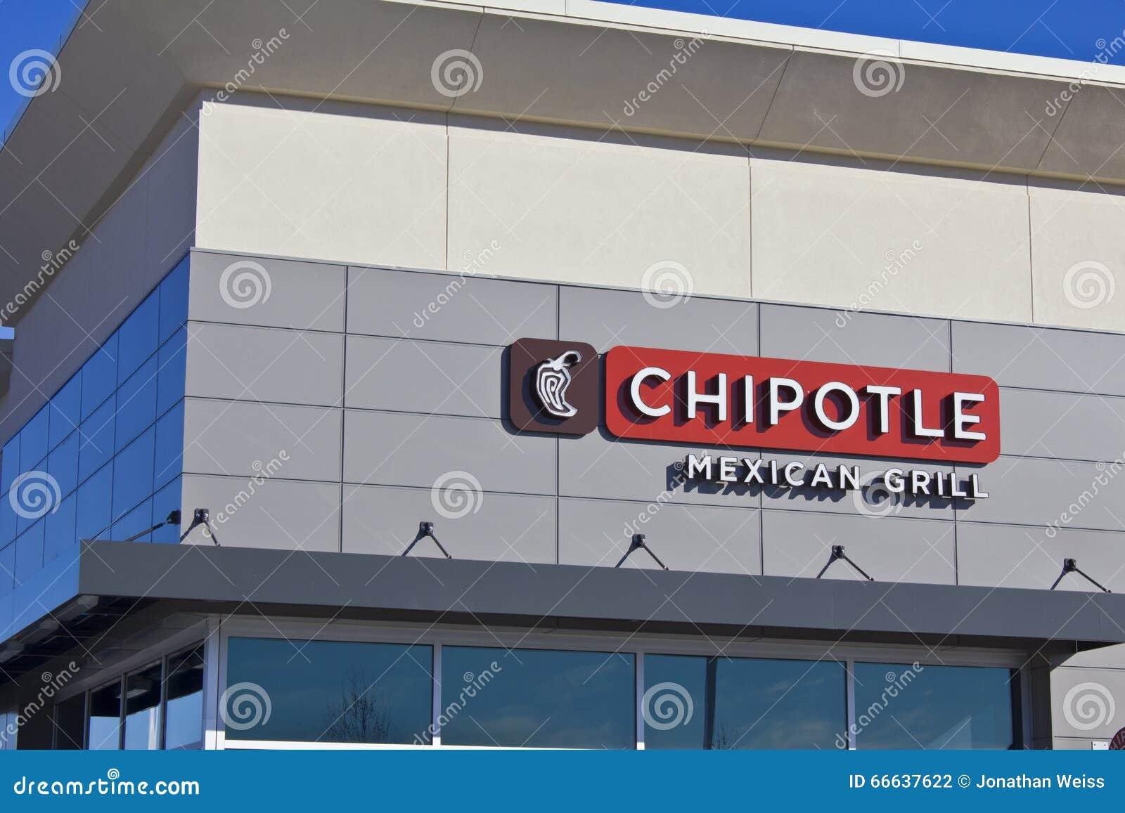 Indianapolis - vers en février 2016 : Restaurant mexicain V de gril de Chipotle