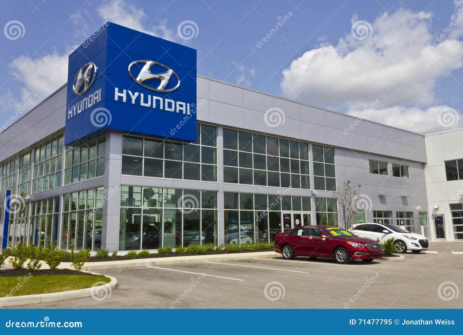 Indianapolis - vers en mai 2016 : Concessionnaire III de Hyundai Motor Company