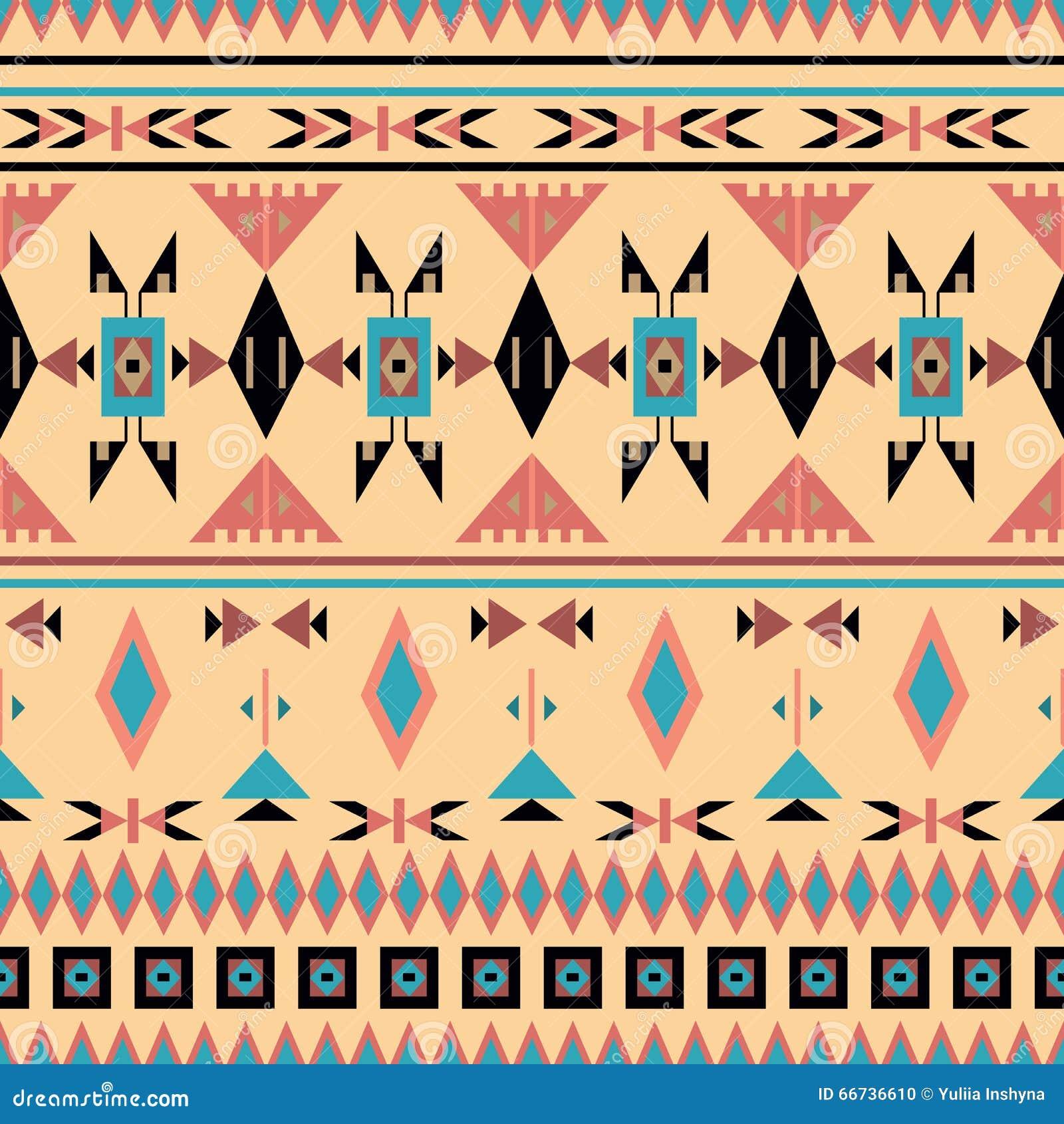 indianer nahtloses muster vektorillustration vektor