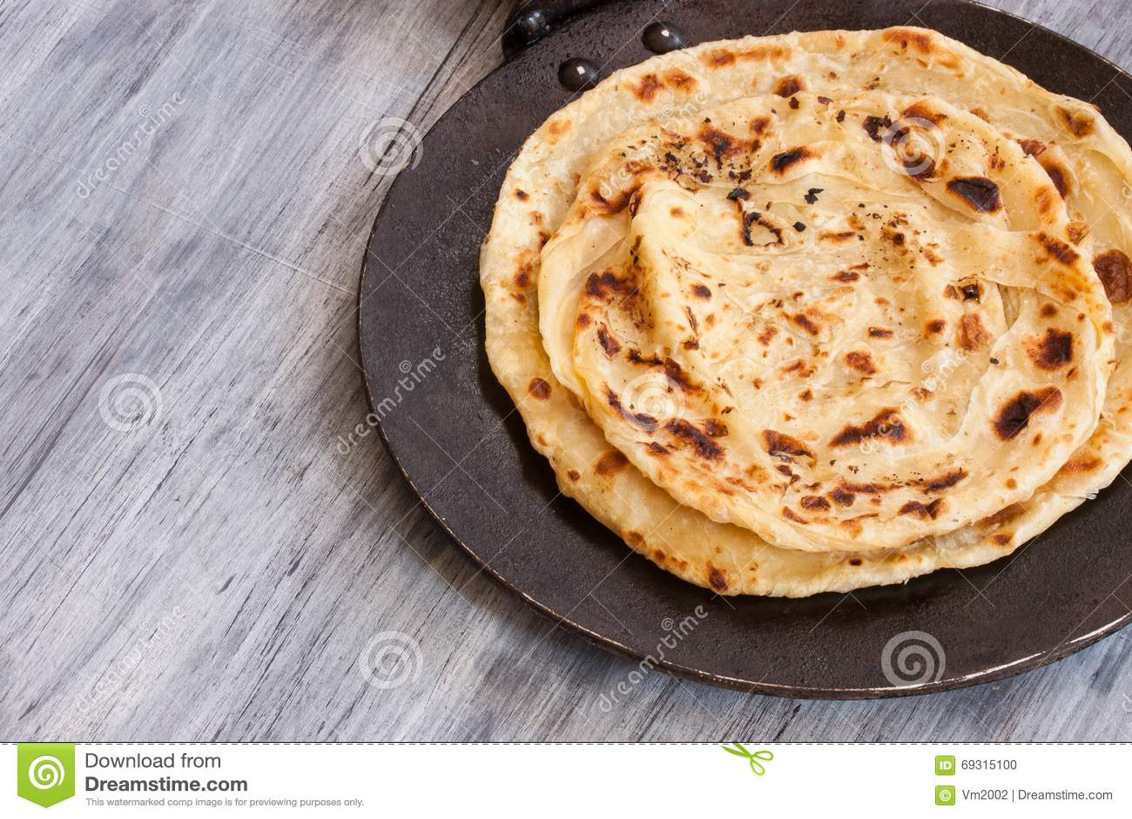 Indianina Paratha mieszkania płatowaty chleb