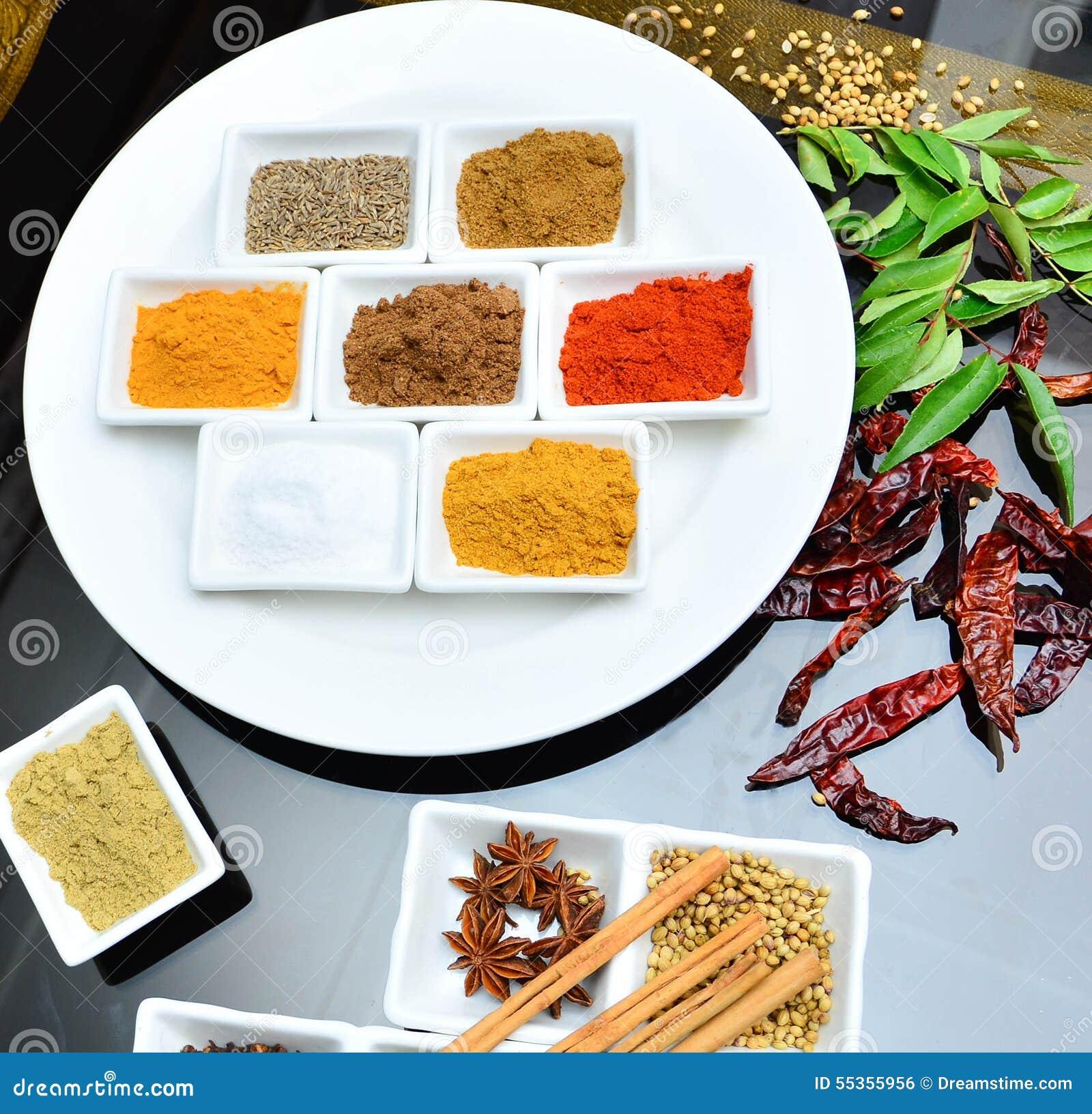 Indiano e cucinando le spezie