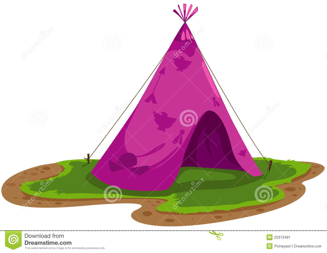 Indians Tent Stock Image Image 22373491