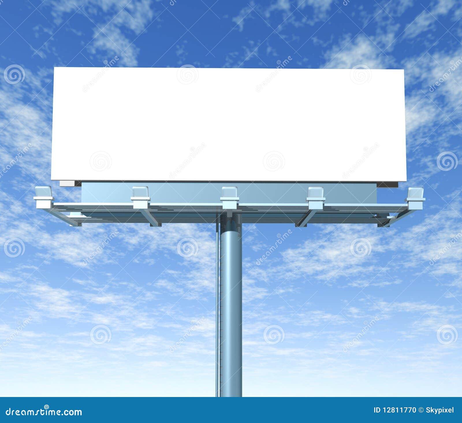 Indicador ao ar livre do quadro de avisos com céu