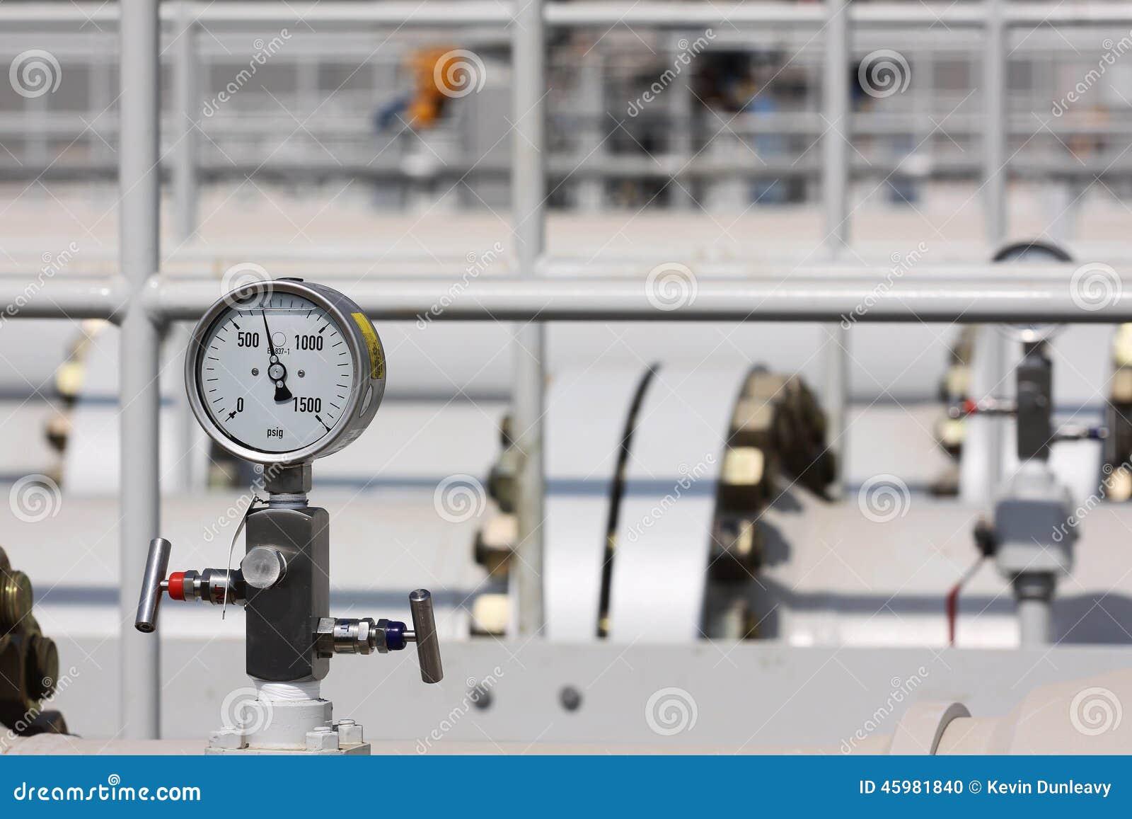 Indicador de alta presión en la tubería de proceso
