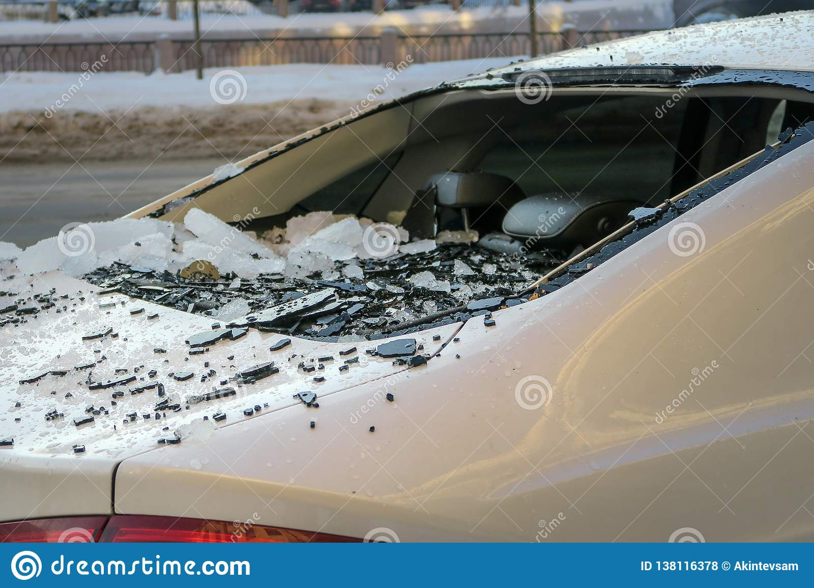 Indicador de carro quebrado carro danificado do gelo de queda