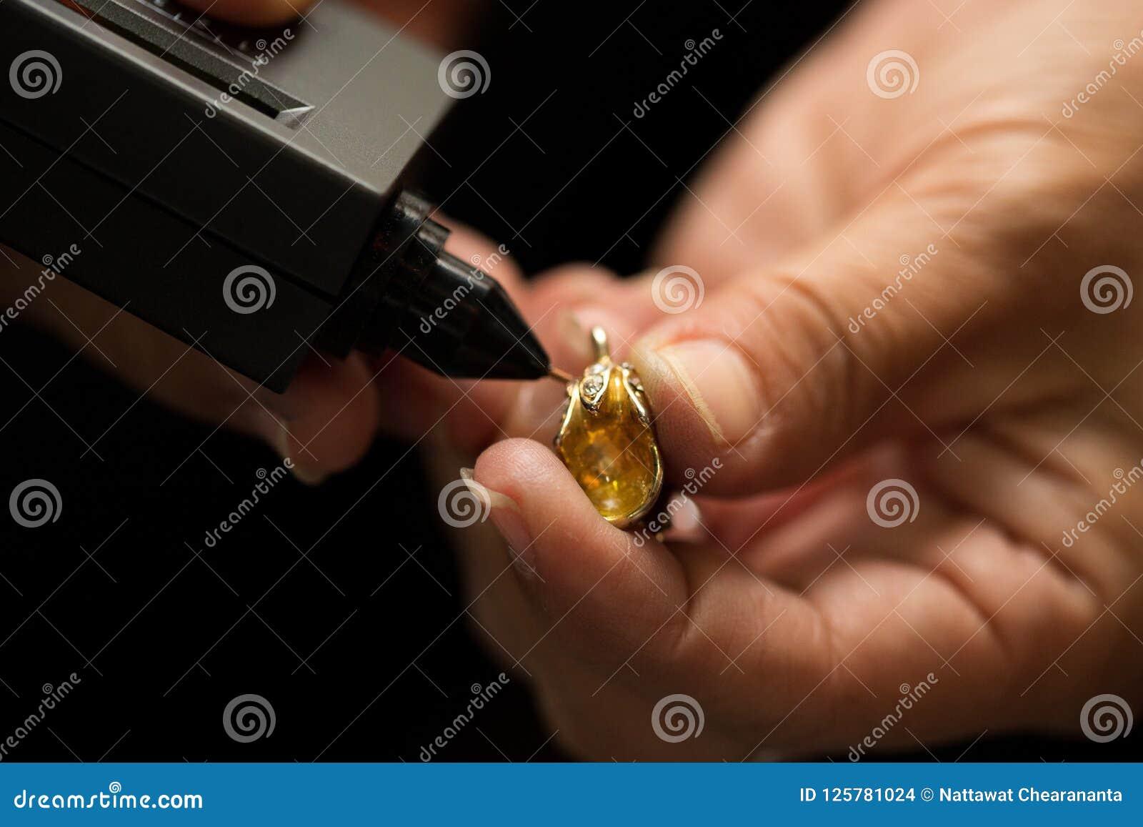 Indicador de Diamond Tester Gemstone Selector Gem LED