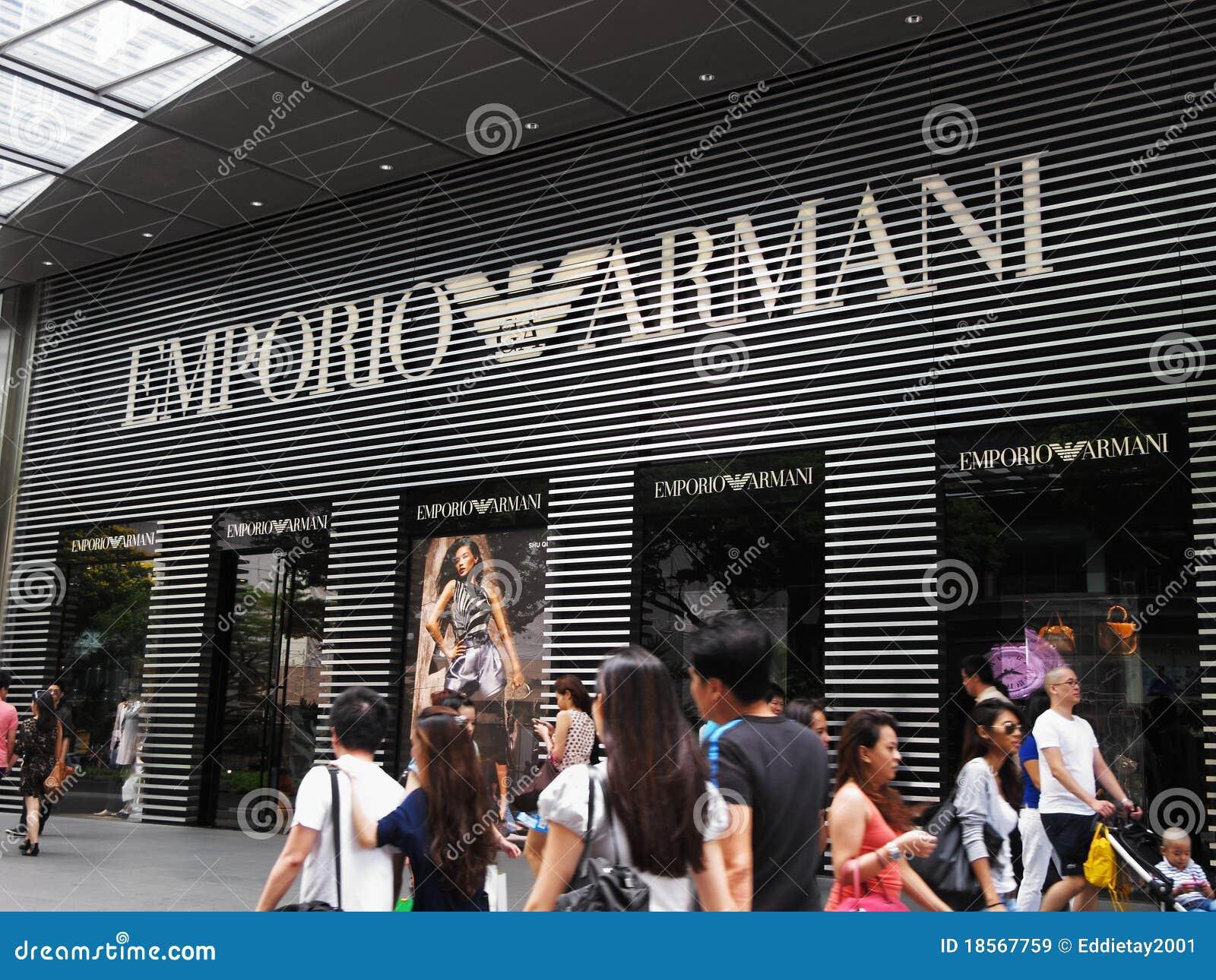 5c3746f0b645d Indicador De Emporio Armani Imagem de Stock Editorial - Imagem de ...