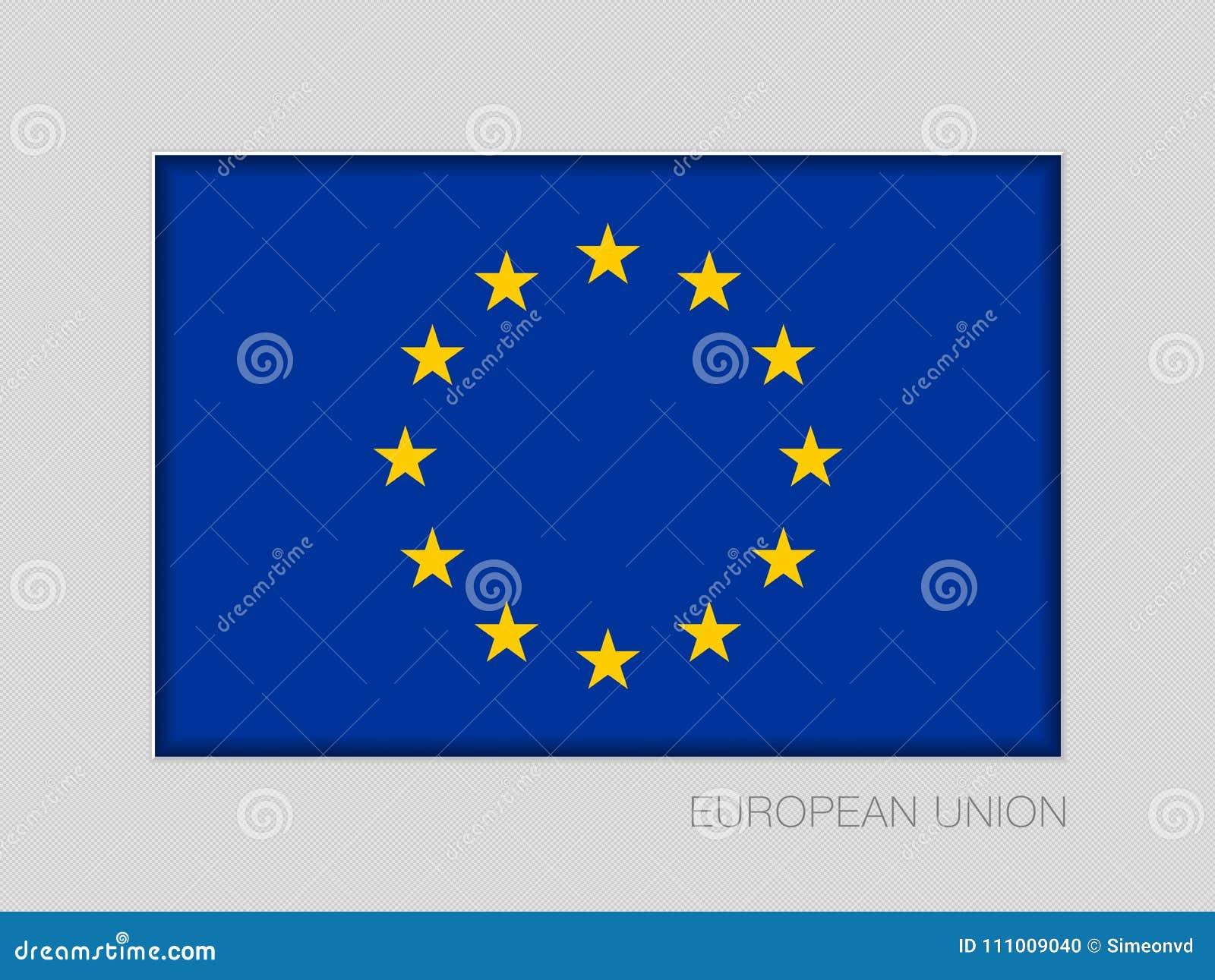 Indicador de la unión europea Relación de aspecto nacional 2 a 3 de la bandera