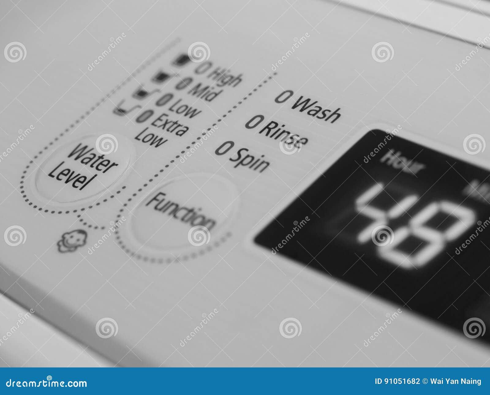 INDICADOR DEL LCD DE LA LAVADORA