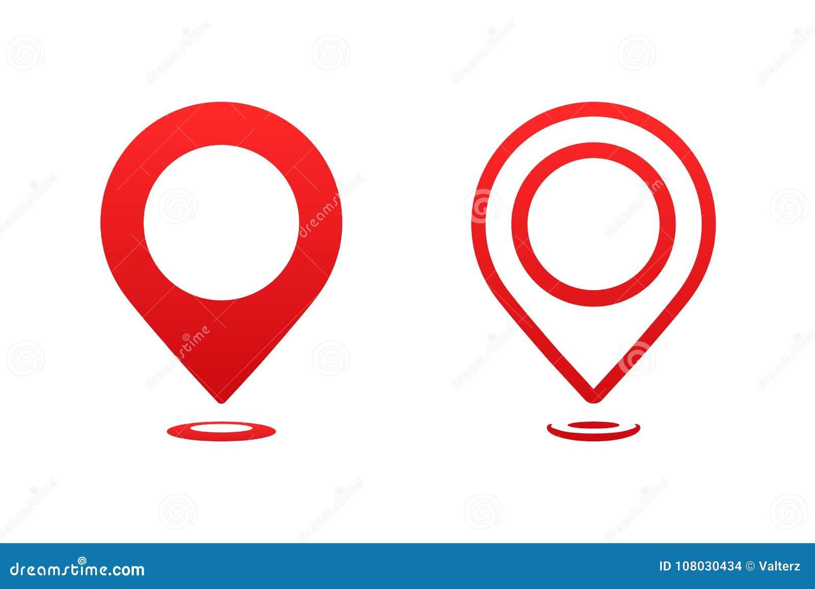 Indicador del mapa de los iconos Marcador del perno del indicador para el ejemplo del vector del lugar del viaje