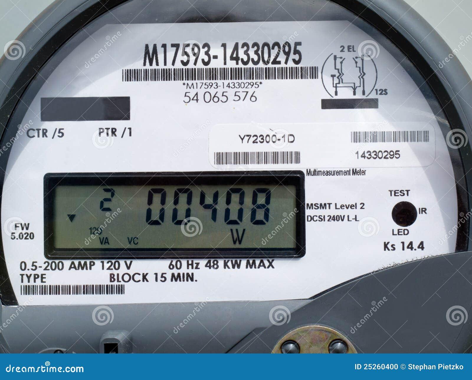 Indicador do LCD do medidor esperto da fonte de alimentação da grade