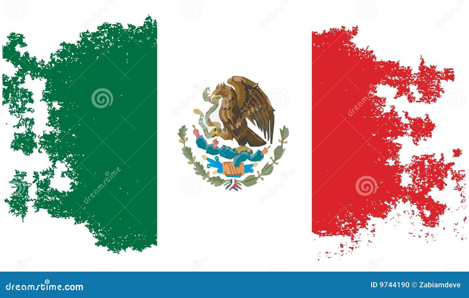 Icono Mapa Mexico Png: Bandera Mexicana Del Grunge Stock De Ilustración