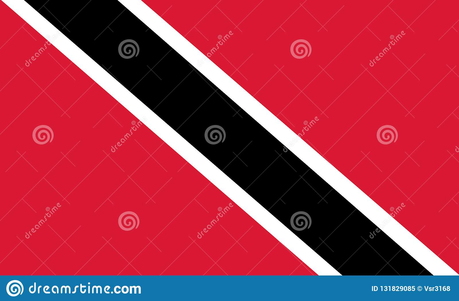 Indicador nacional de Trinidad And Tobago Fondo con la bandera de Trinidad and Tobago