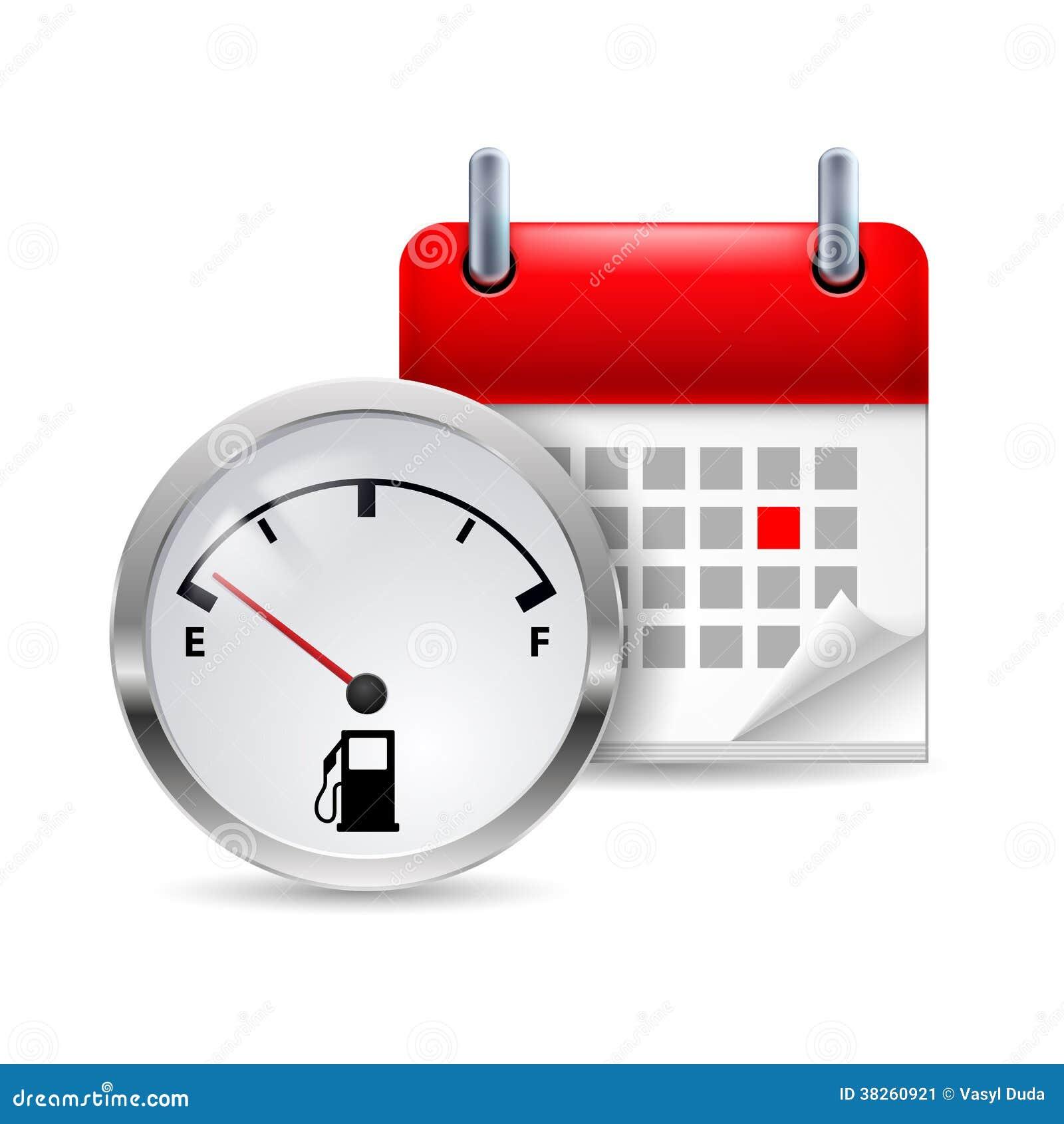 Indicador y calendario de combustible