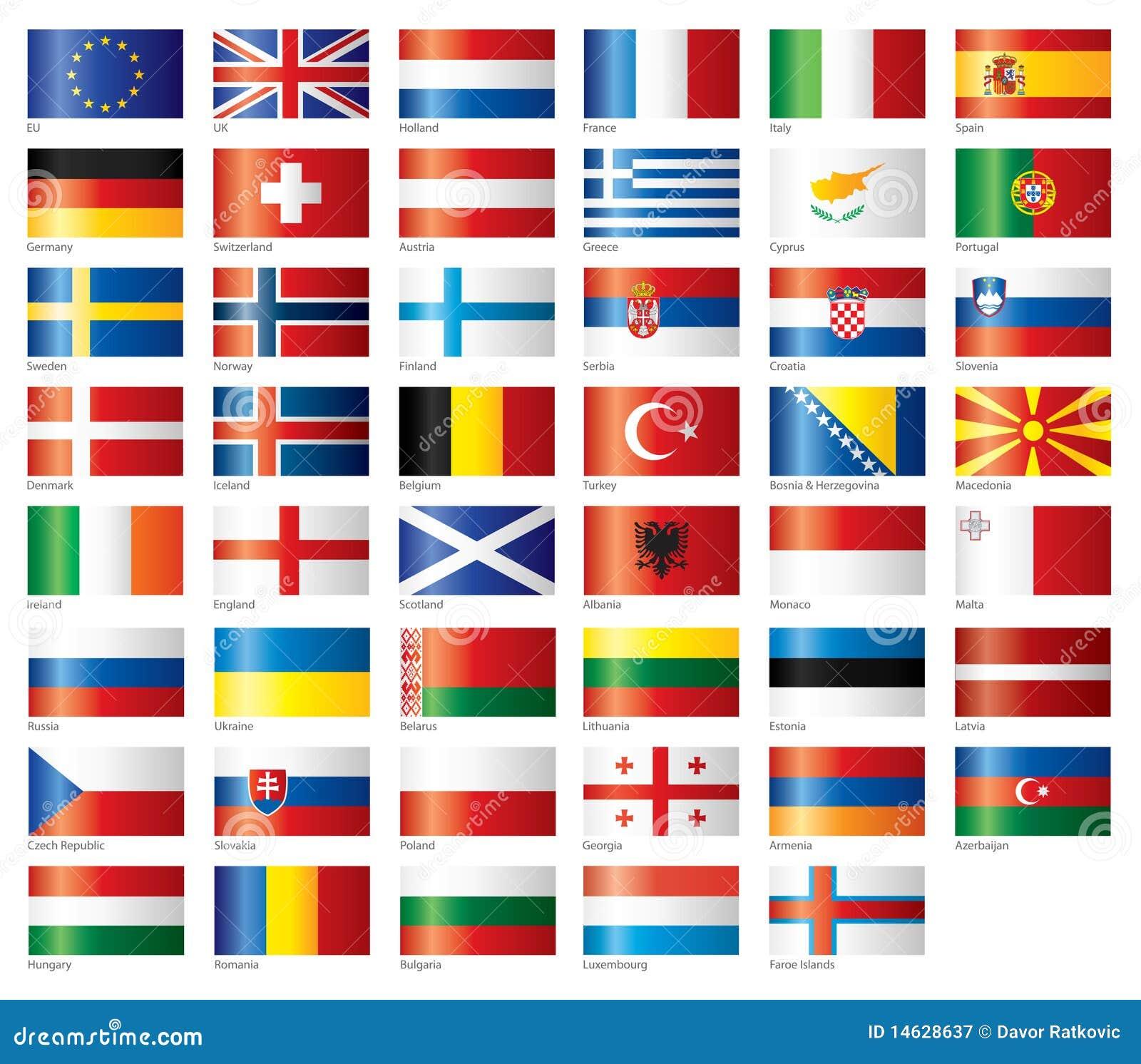 Indicadores brillantes fijados europeos