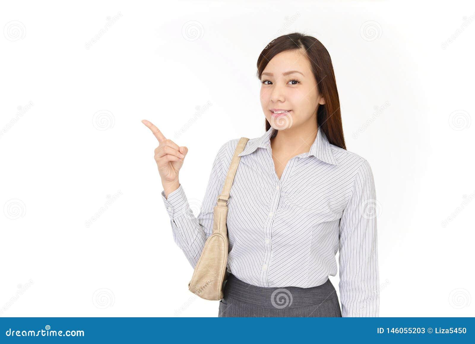 Indicare asiatico della donna