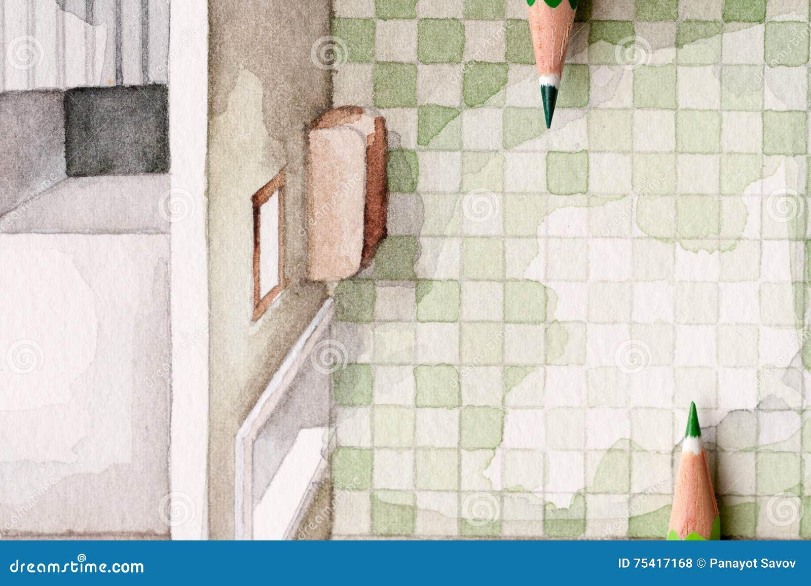 bagno illustrazione