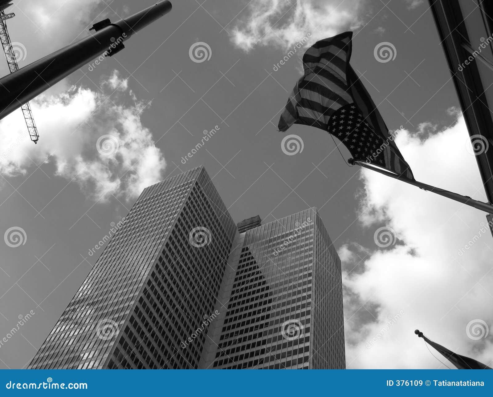 Indicateur américain en ciel