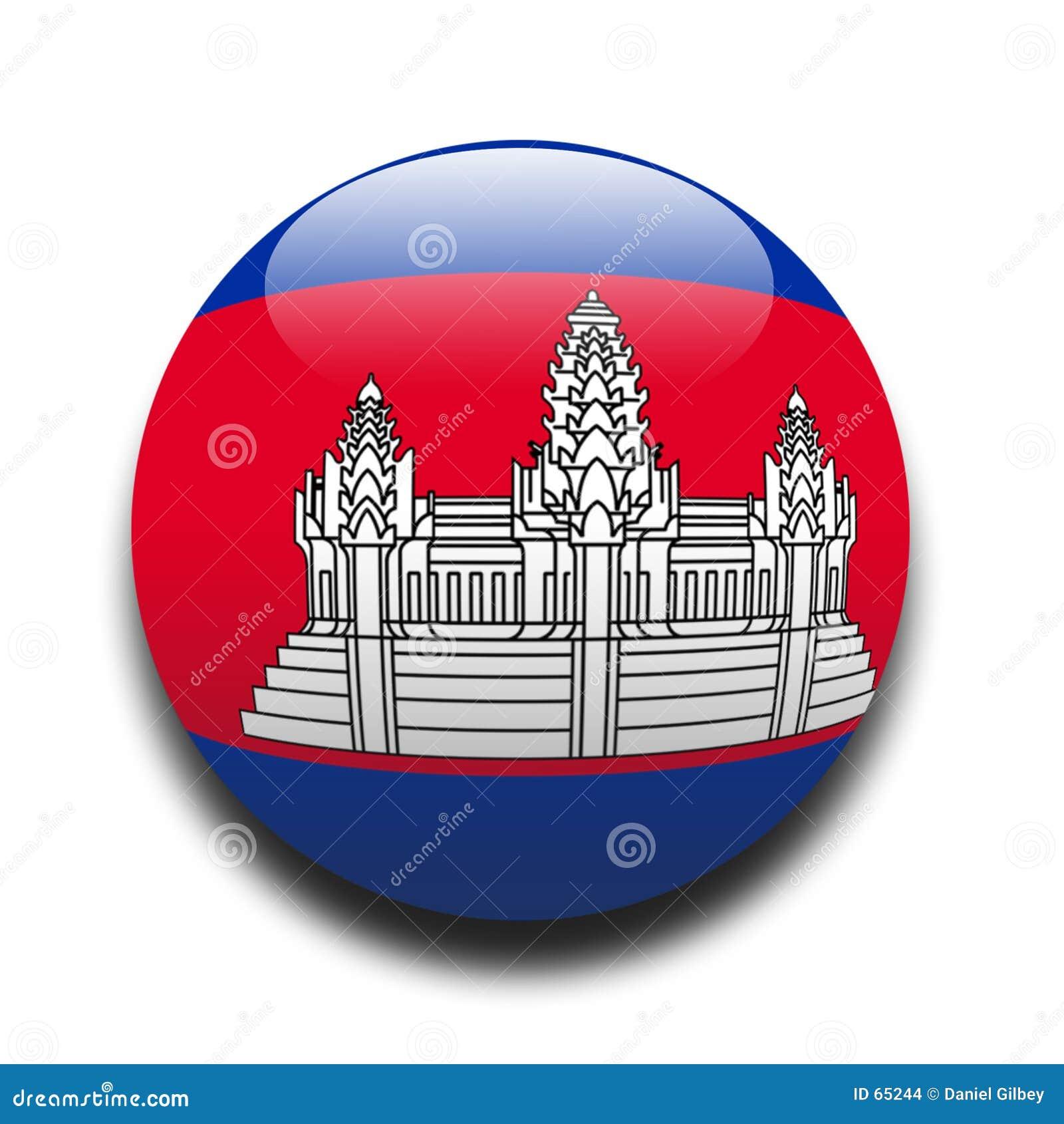 Download Indicateur cambodgien illustration stock. Illustration du nation - 65244