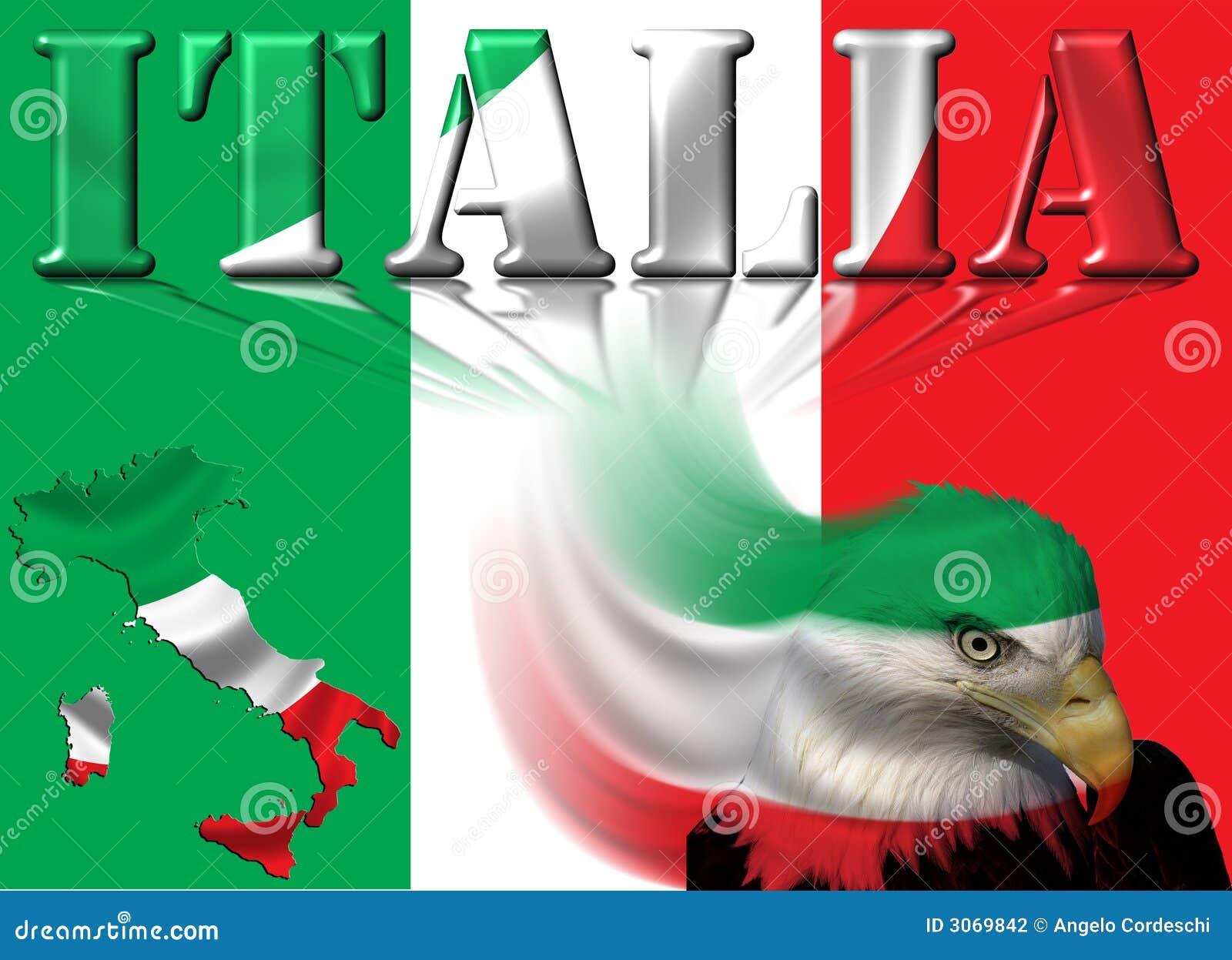 Indicateur/carte et aigle de l Italie