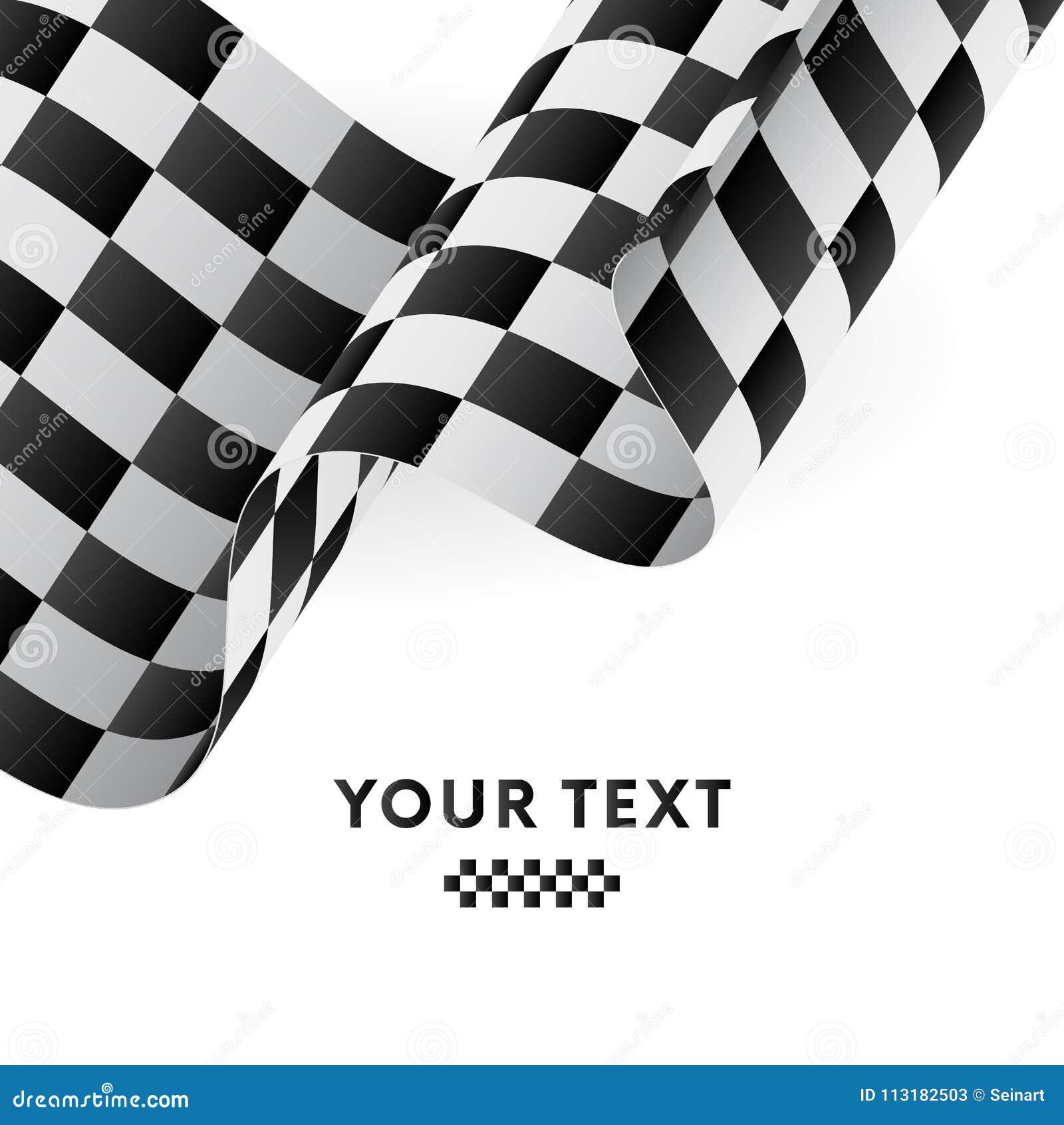 Indicateur checkered de ondulation Emballage de l indicateur Illustration de vecteur