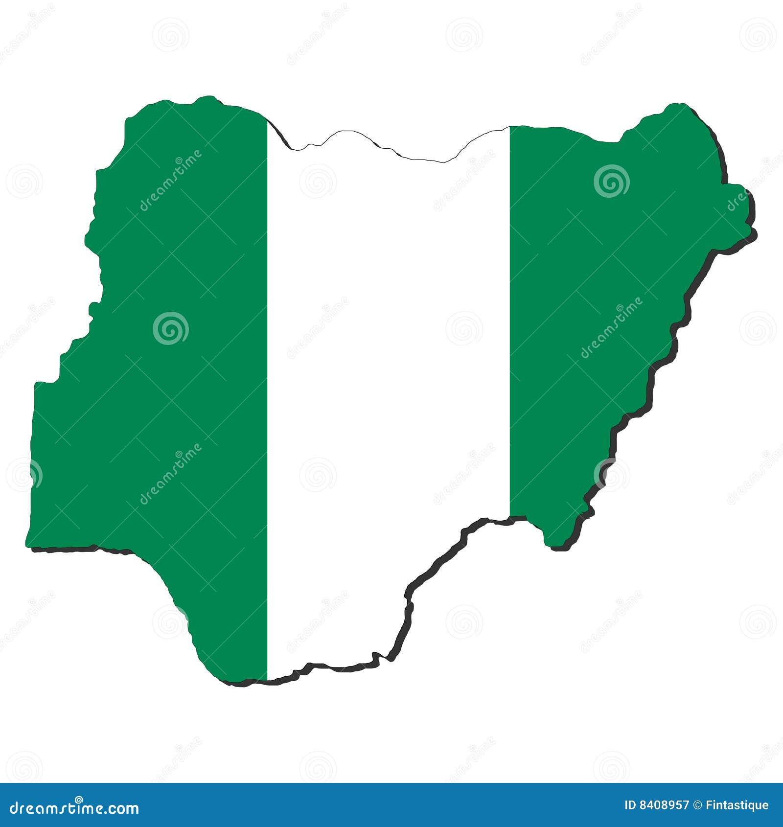 Indicateur de carte du Nigéria