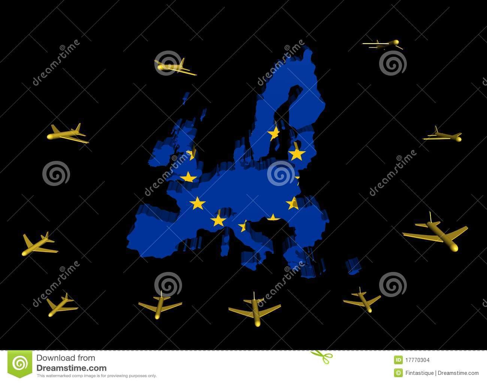 Indicateur de départ de carte d UE d avions