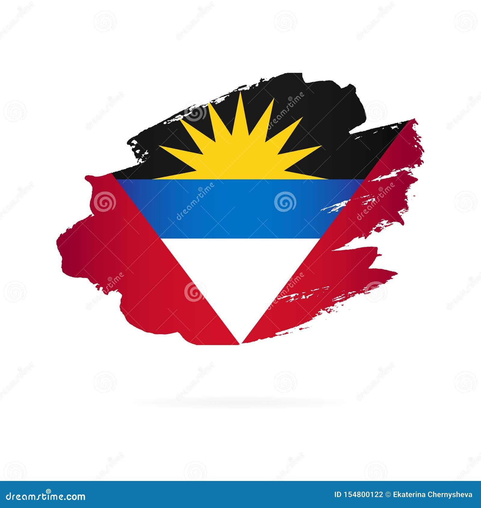 Indicateur de l Antigua et du Barbuda Illustration de vecteur Rappes de balai