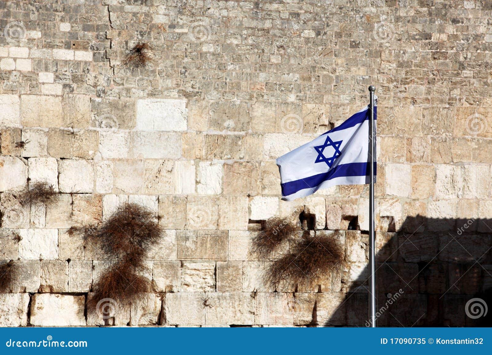 Indicateur de l Israël contre le mur pleurant