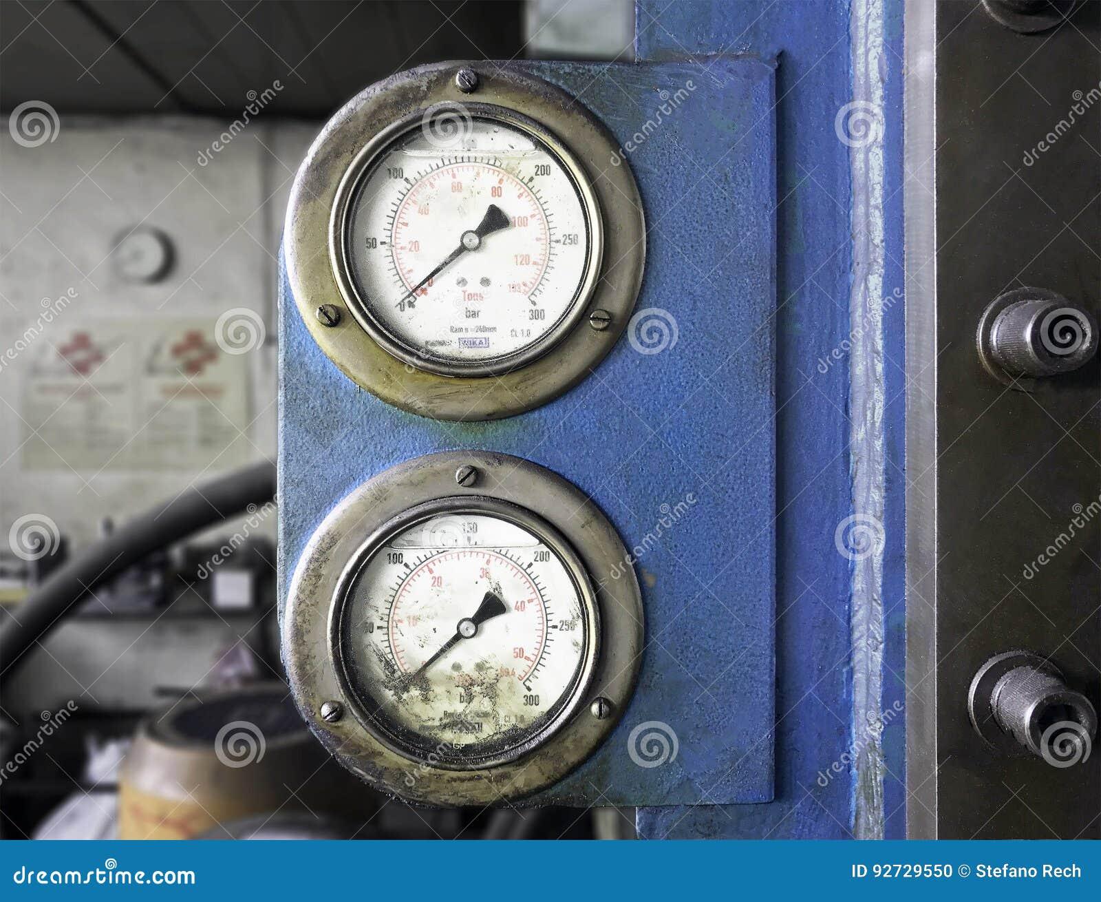 Indicateur de pression de vintage