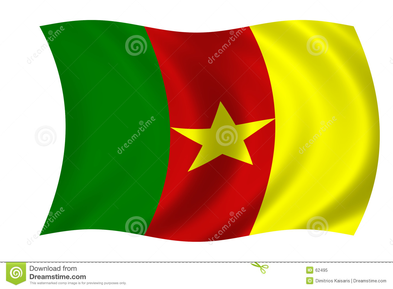Download Indicateur du Cameroun illustration stock. Illustration du emblème - 62495
