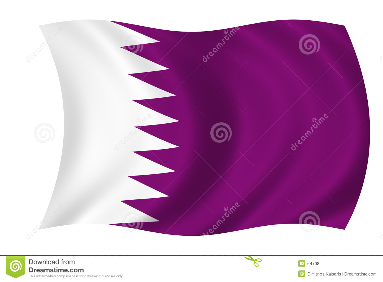 Download Indicateur du Qatar illustration stock. Illustration du qatar - 64708