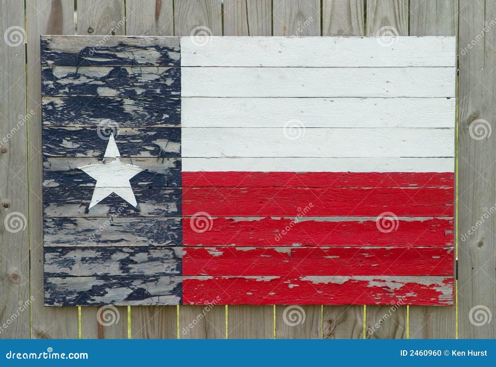Indicateur en bois peint du Texas