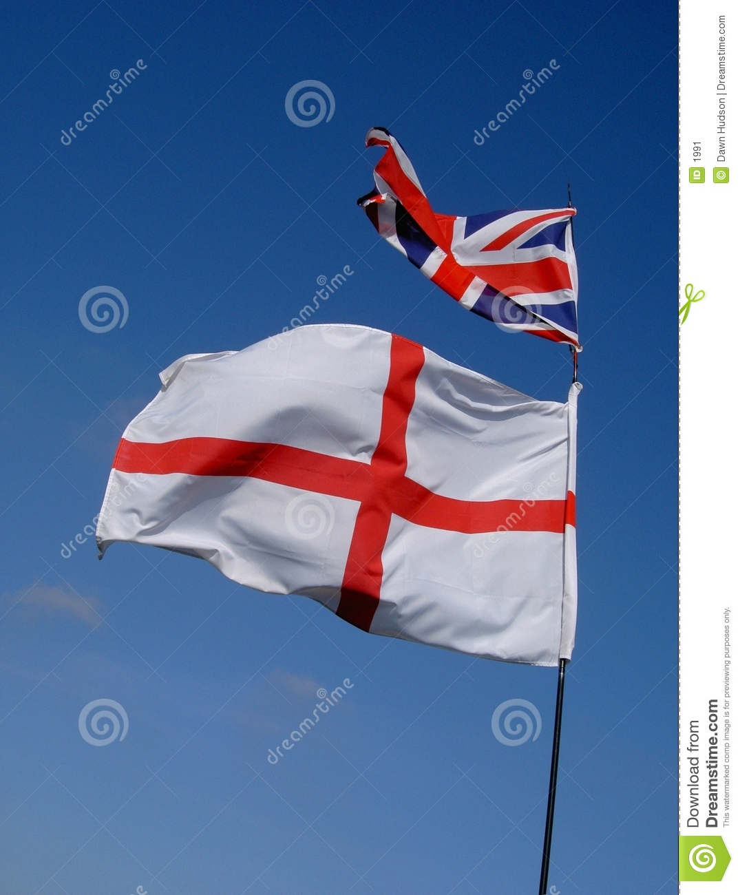 Indicateur et union Jack de l Angleterre