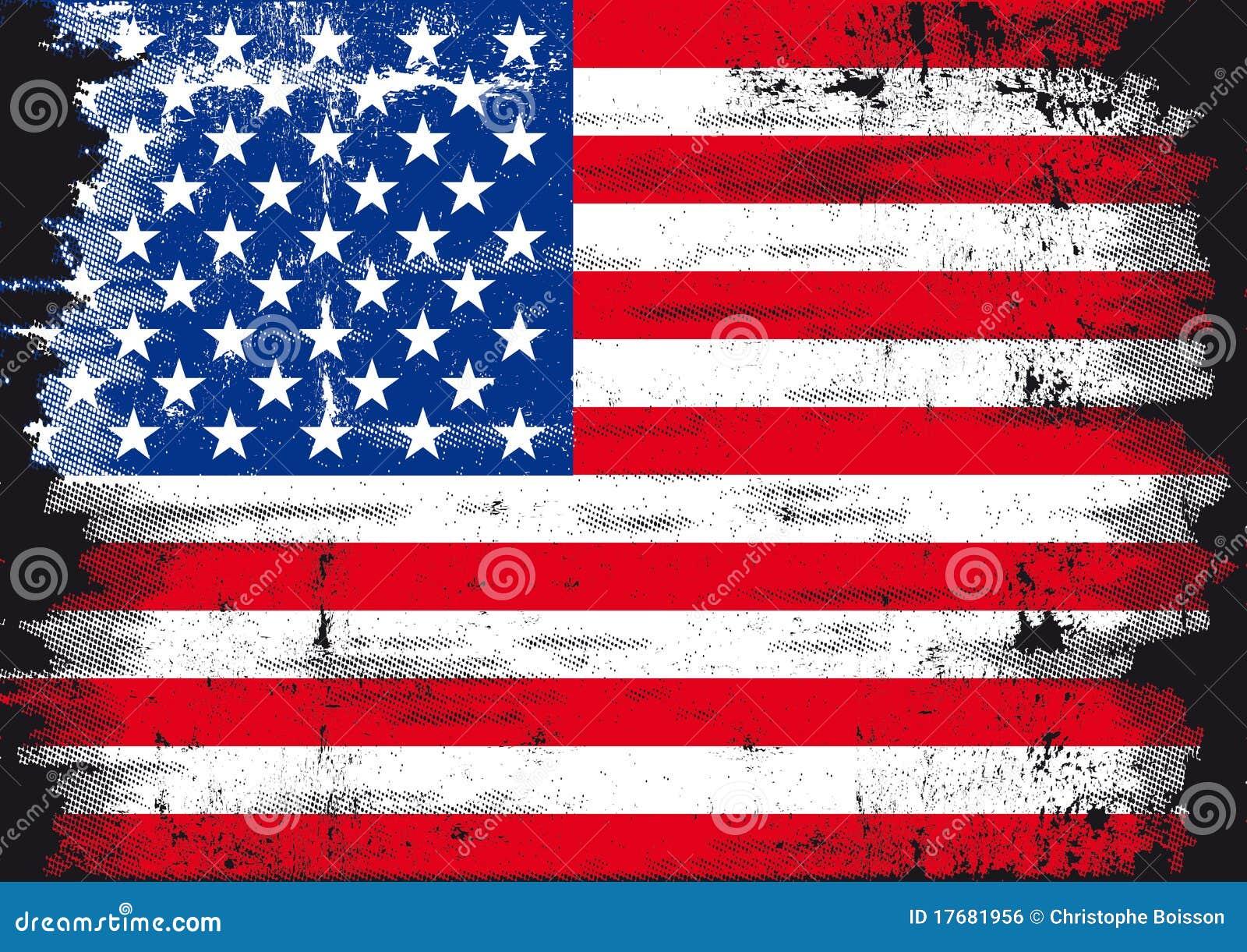 Indicateur grunge des USA