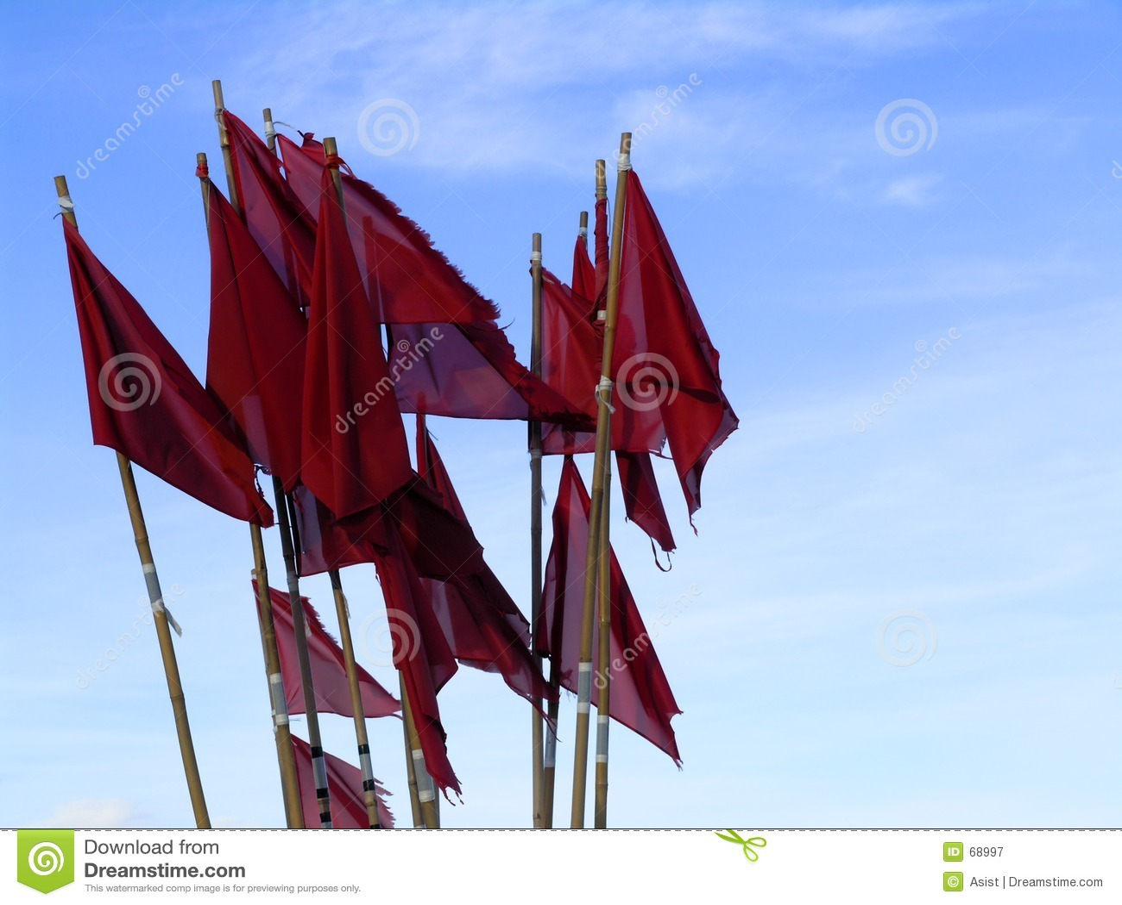 Indicateurs rouges sur des bouys