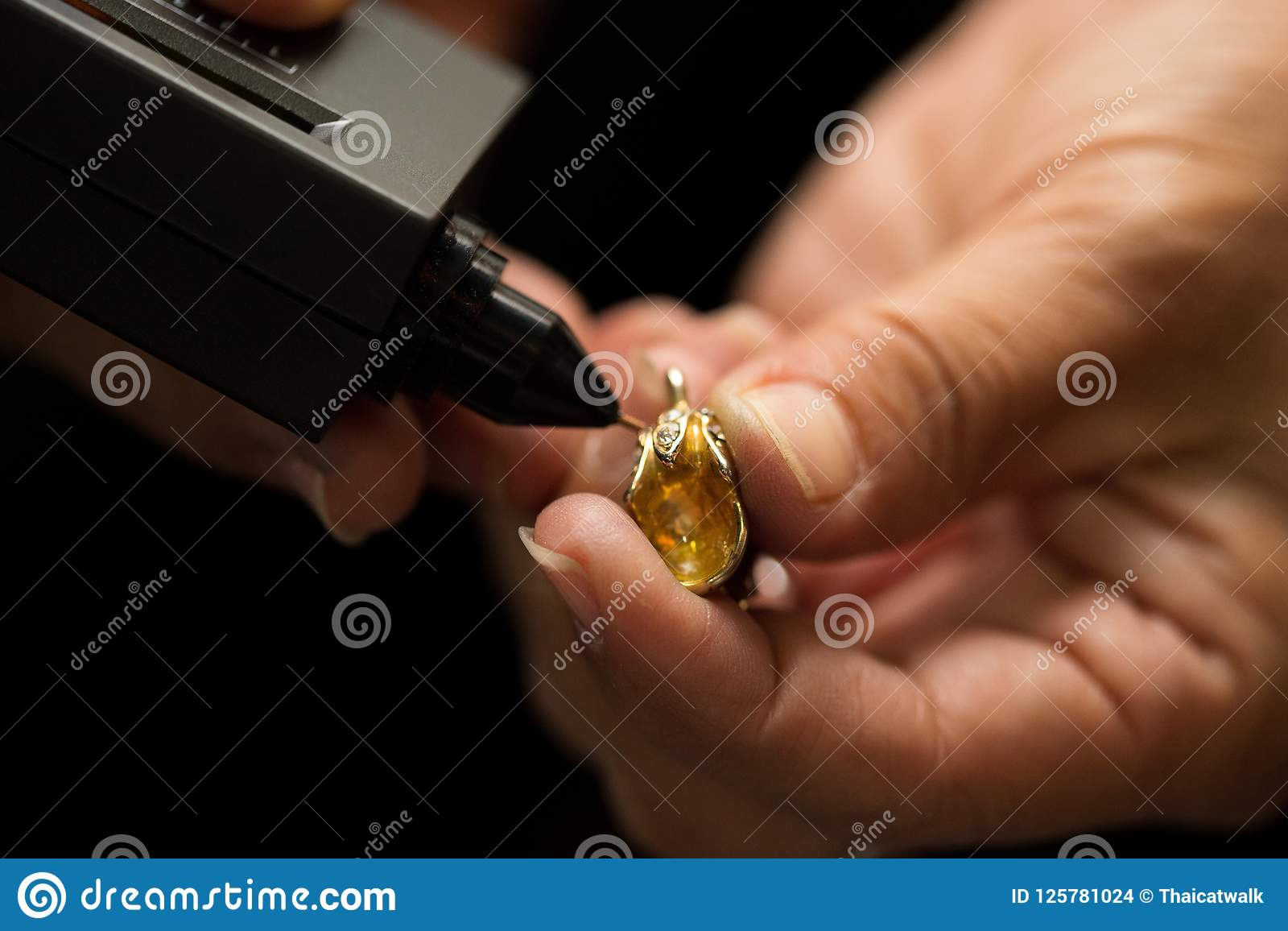 Indicatore di Diamond Tester Gemstone Selector Gem LED