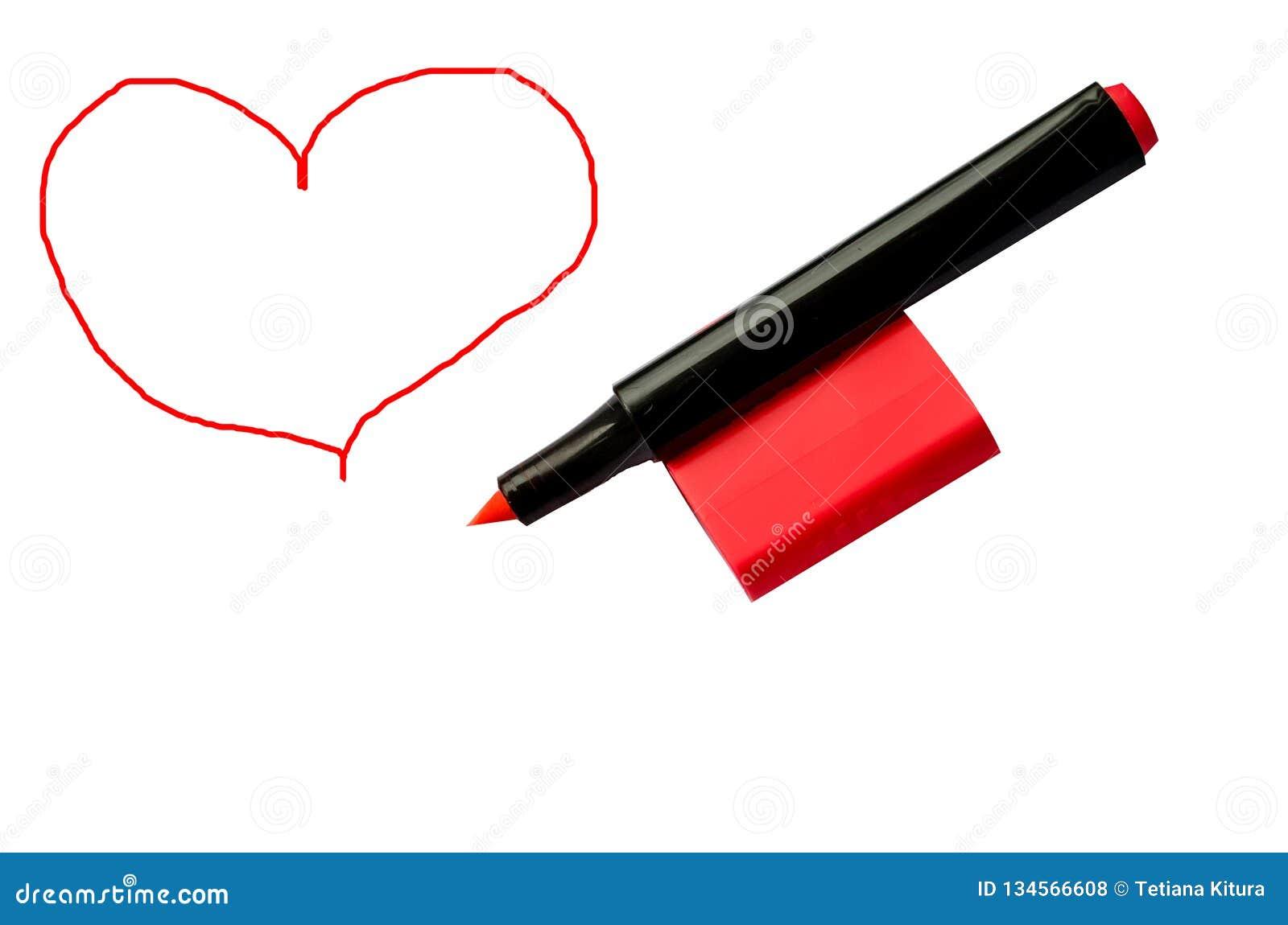 Indicatore e cuore rossi