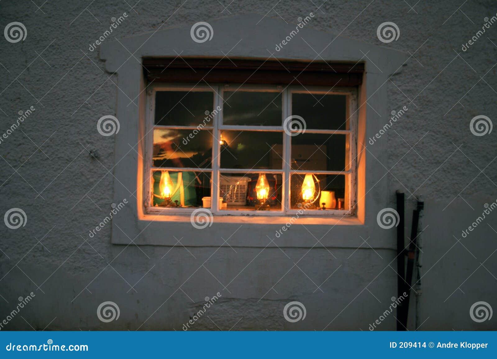 Indicatore luminoso nella finestra