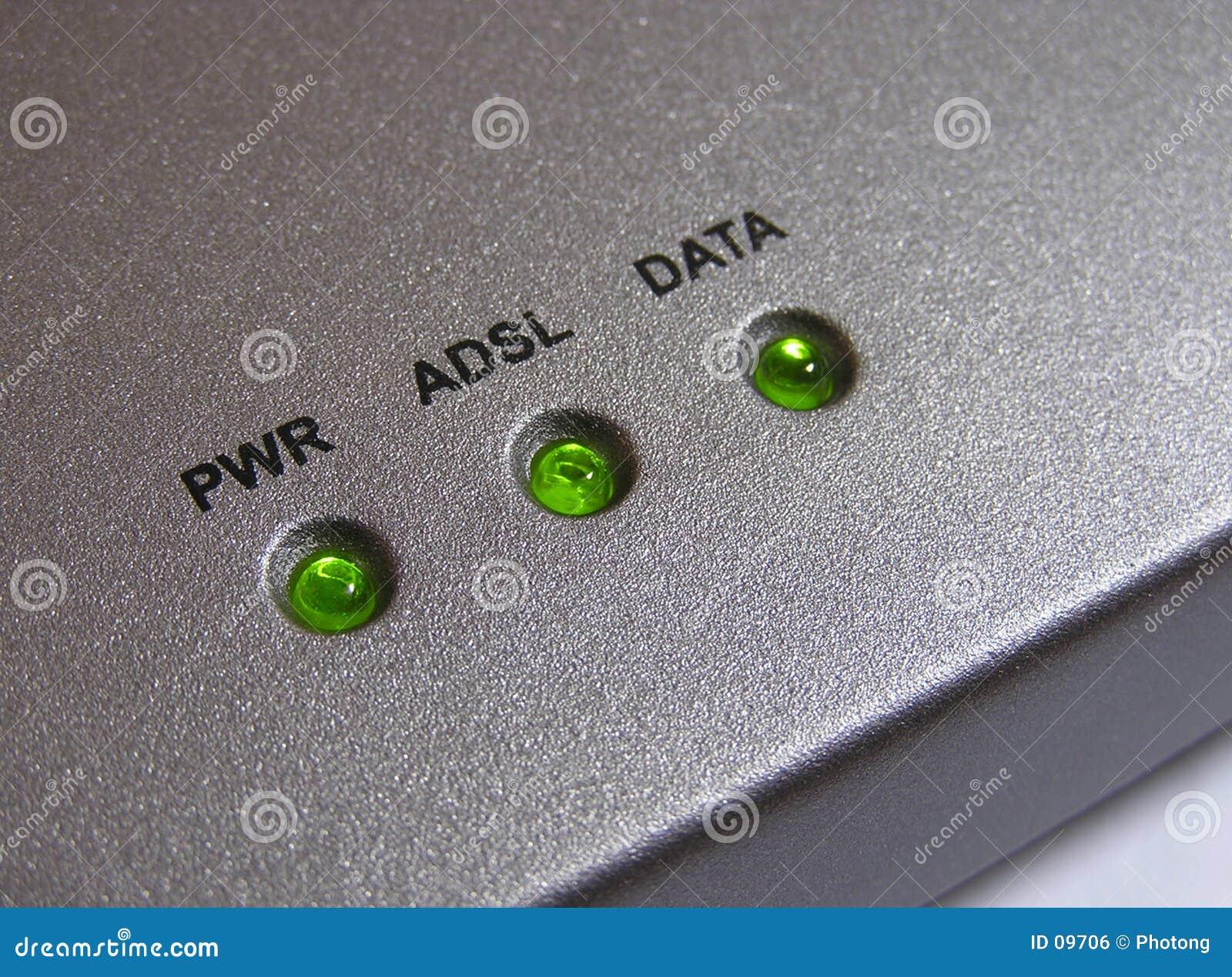 Indicatori luminosi del modem