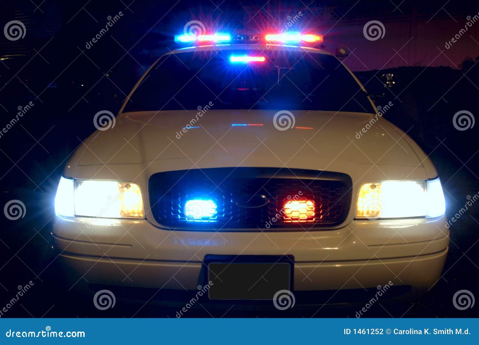 Indicatori luminosi del volante della polizia