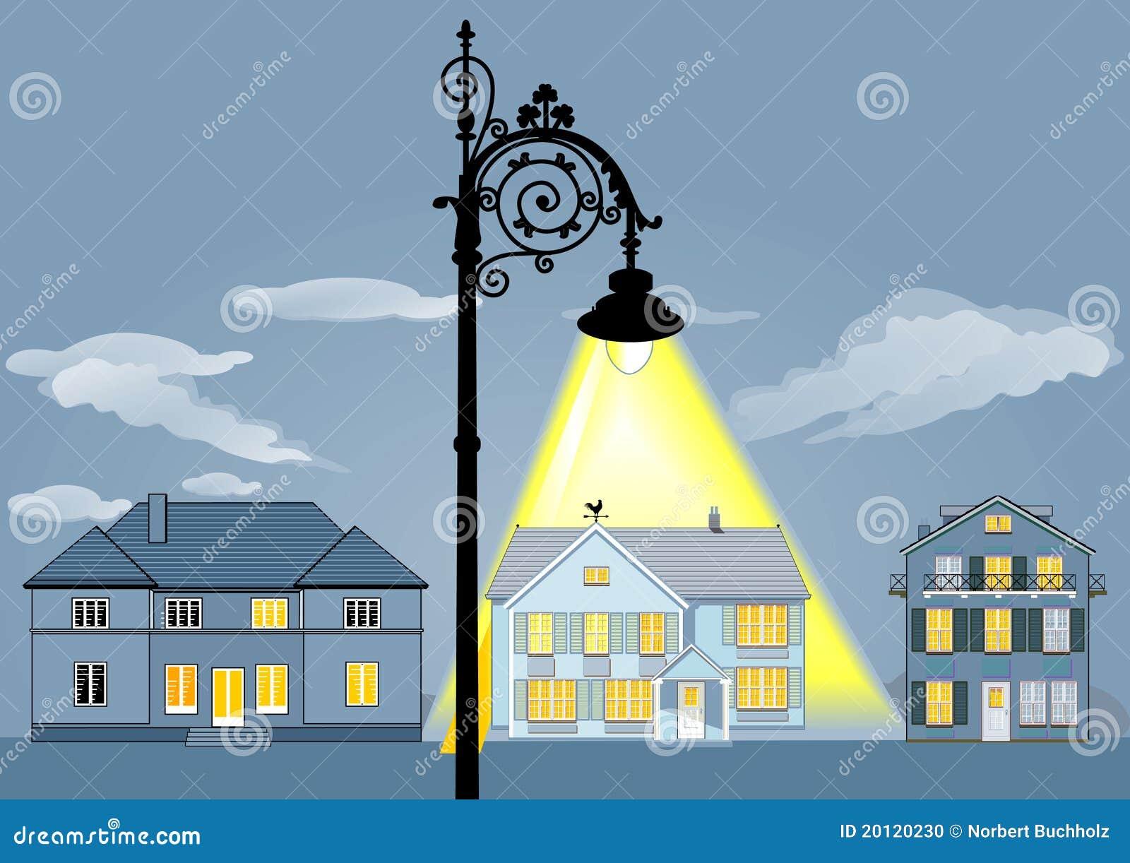 Indicatori luminosi della casa della famiglia