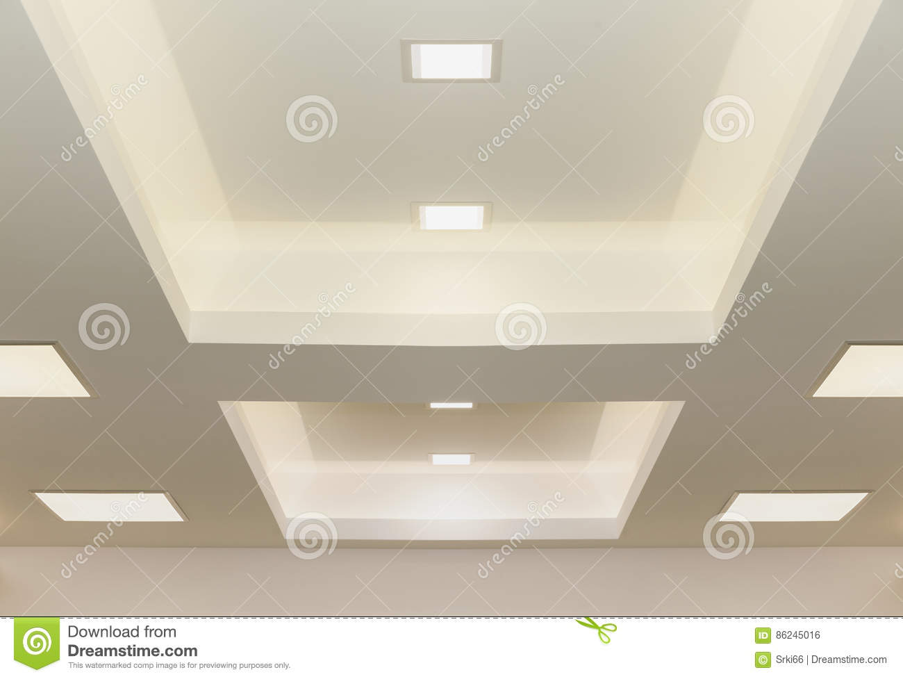 Plafoniere Soffitto Industriale : Indicatori luminosi di soffitto moderni fotografia stock