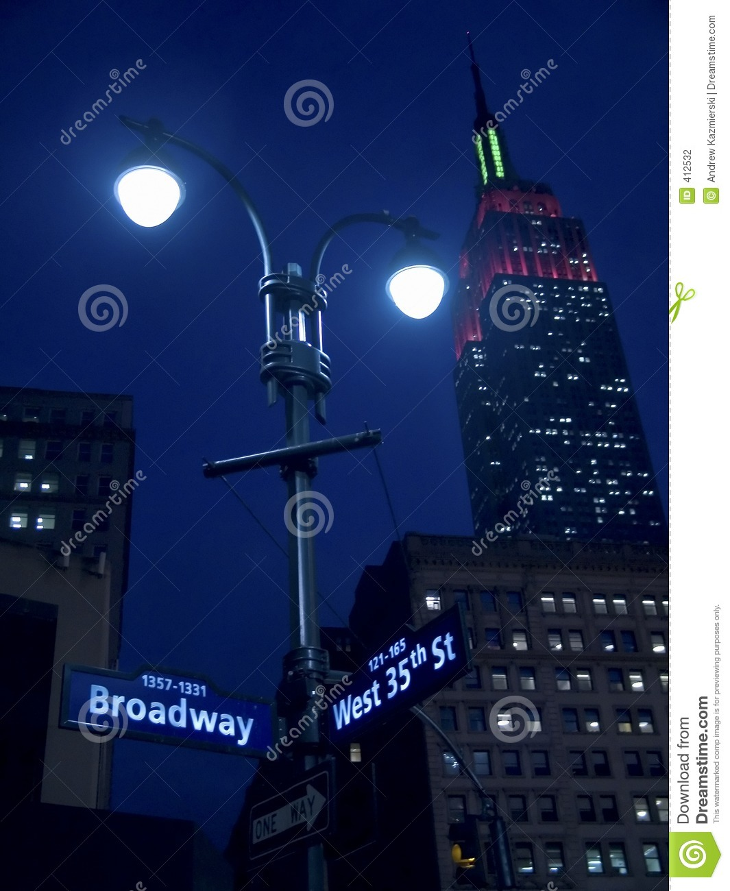 Indicatori luminosi su Broadway