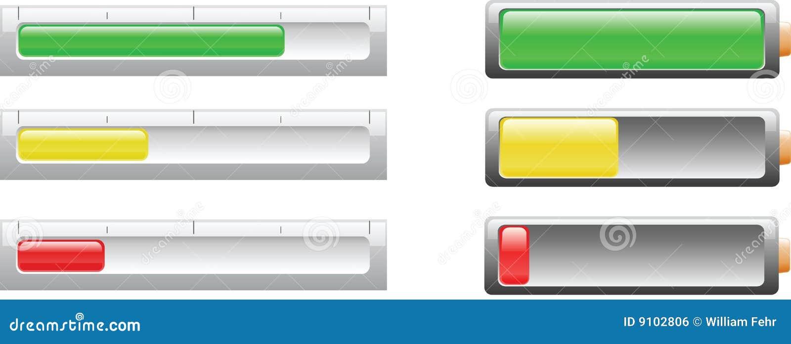Indicicators del nivel de la batería o de potencia